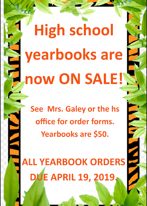HS yearbook 2019