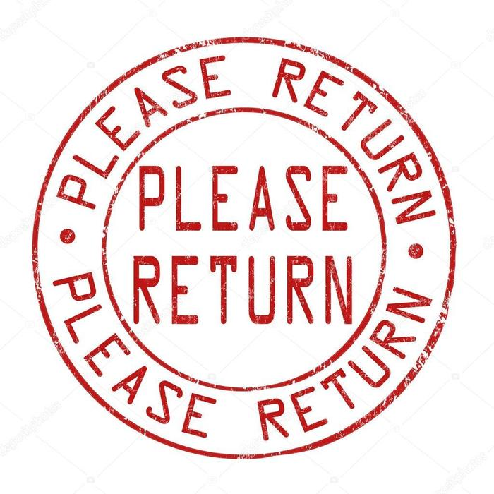please return
